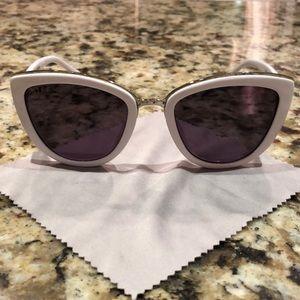 DIFF Eyewear ROSE glasses in white